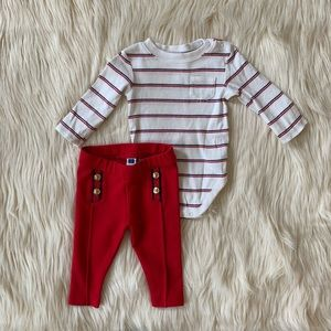 Janie and Jack Nautical Sailor Set, 3-6 Months